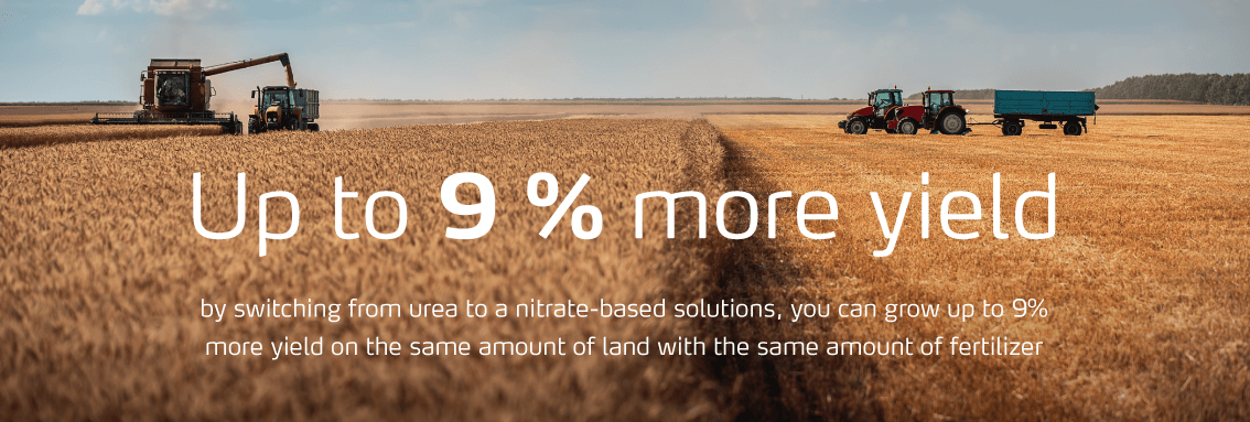 Switching to nitrate-based products can give up to 9% more yield